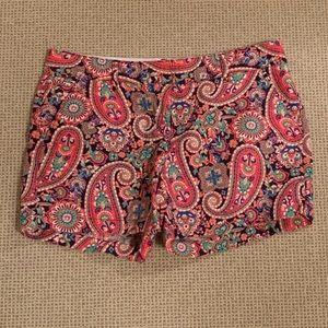 Lands end paisley shorts